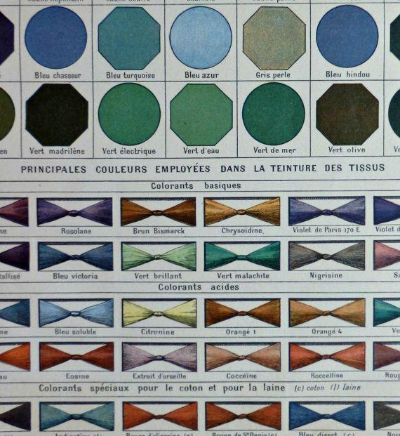 Strato dellannata pubblicato in Francia nel 1900, dal Nouveau Larousse Illustré (1897-1904) Colori: Per mappe e piani Uso industriale. Tintura del tessuto.  Non si tratta di una copia, ha 115 anni. Buone condizioni. Pronto per essere incorniciato. Misura: 23 x 31 cm. Altre stampe simili nel nostro negozio. https://www.etsy.com/your/shops/CastafioreOldPrints/sections/13524720  Spediamo per posta con numero di tracking. In tubo rigido o cartone. Paghi solo la ...