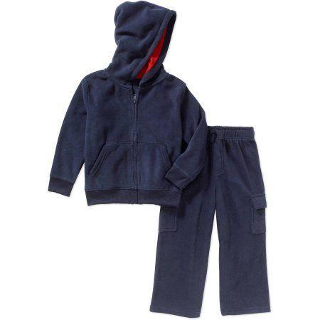 Garanimals Toddler Boys' Micro Fleece Hoodie & Micro Fleece Pants 2 Piece Outfit Set, Toddler Boy's, Size: 25 Months, Blue