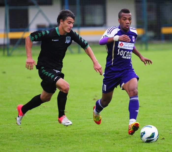 Al Ain FC (UAE) playing with Kuban (RU) training camp