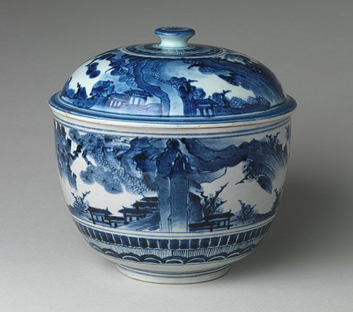 Large tureen and cover with landscape decoration [Japan] Edo period late 17th century, The Metropolitan Museum of Art