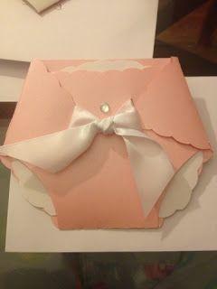 How to make Baby Shower Diaper Invitations!   Jay Melendez