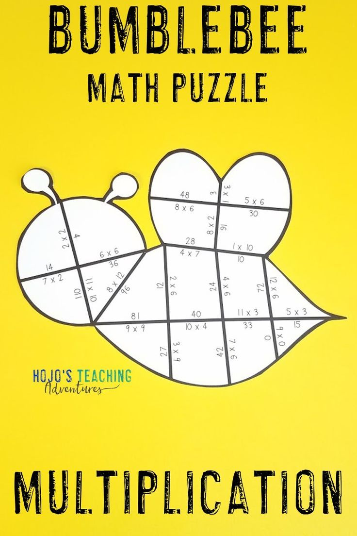 Your 3rd 4th 5th Grade Upper Elementary Classroom Or Home School Students Are Going To Love These Bee Puzzles Bee Classroom Spring Math Center Math Centers [ 1104 x 736 Pixel ]