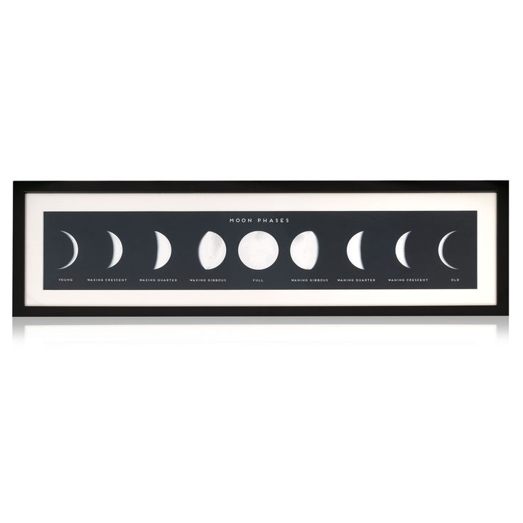 Buy the Moon Phases Wall Art at Oliver Bonas. Enjoy free UK standard delivery for orders over £50.