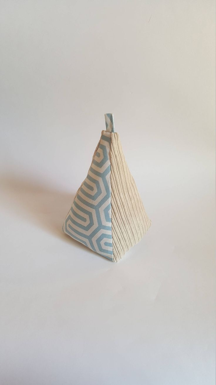 Excited to share the latest addition to my #etsy shop: Fabric Doorstop, Pyramid Shaped, Geometric Corduroy, Heavy Fabric Door Stop http://etsy.me/2yS5XEu #housewares #homedecor #beige #blue #bedroom #baby #white #pattern #pyramidshaped