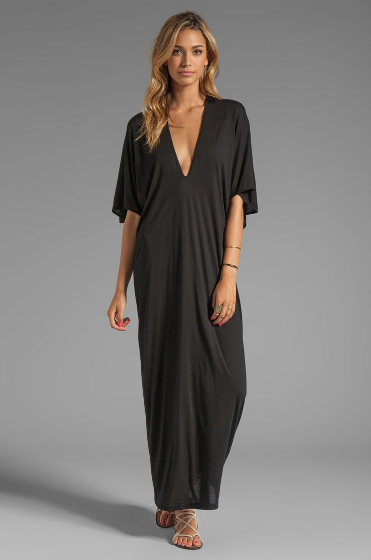 Riller & Fount Robyn Caftan Maxi in Black