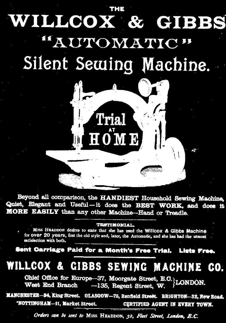 willcox gibbs sewing machine co