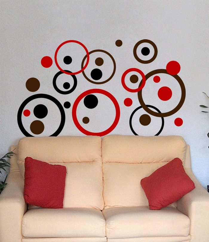 Red Decals For Bedroom Wall