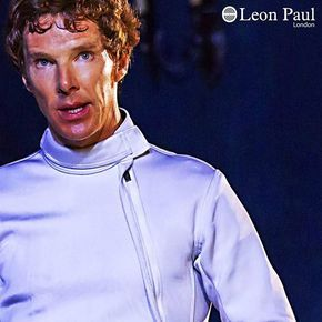 Benedict Cumberbatch in Leon Paul fencing gear during Hamlet. #weallplayswords