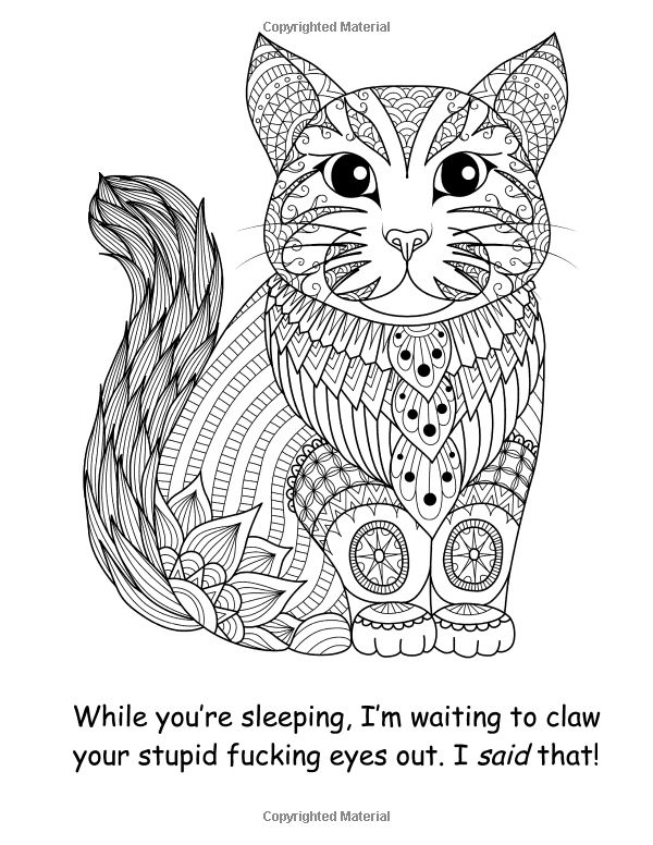 Drawing Zentangle Cat For Coloring Page Shirt Design Effect Logo Tattoo And Decoration