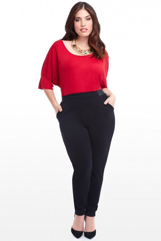 Plus Size Textured Jogger Pants   Fashion To Figure