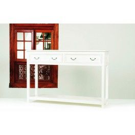 Nordal Konsolbord - Console with 2 Drawers - Antique White