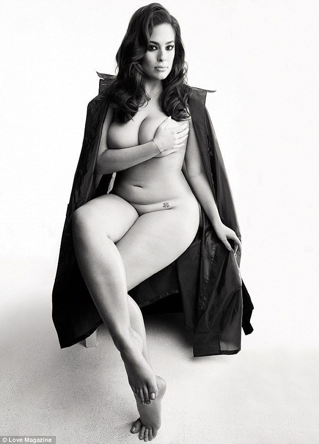 Stunning: Ashley Graham practiced what she preached when she posed for a naked photoshoot for LOVE magazine , shot by renowned celebrity photographer Patrick Demarchelier