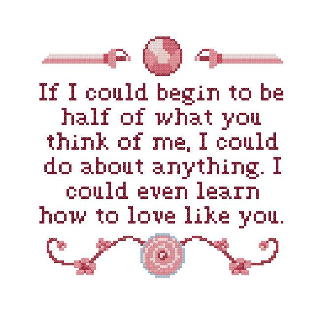 Free Ending Theme Quote Cross Stitch Pattern Steven Universe Rose Quartz by Cross Stitch Quest