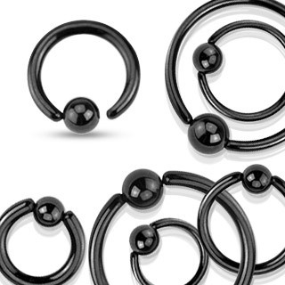 Piercing Ring mit Klemmkugel