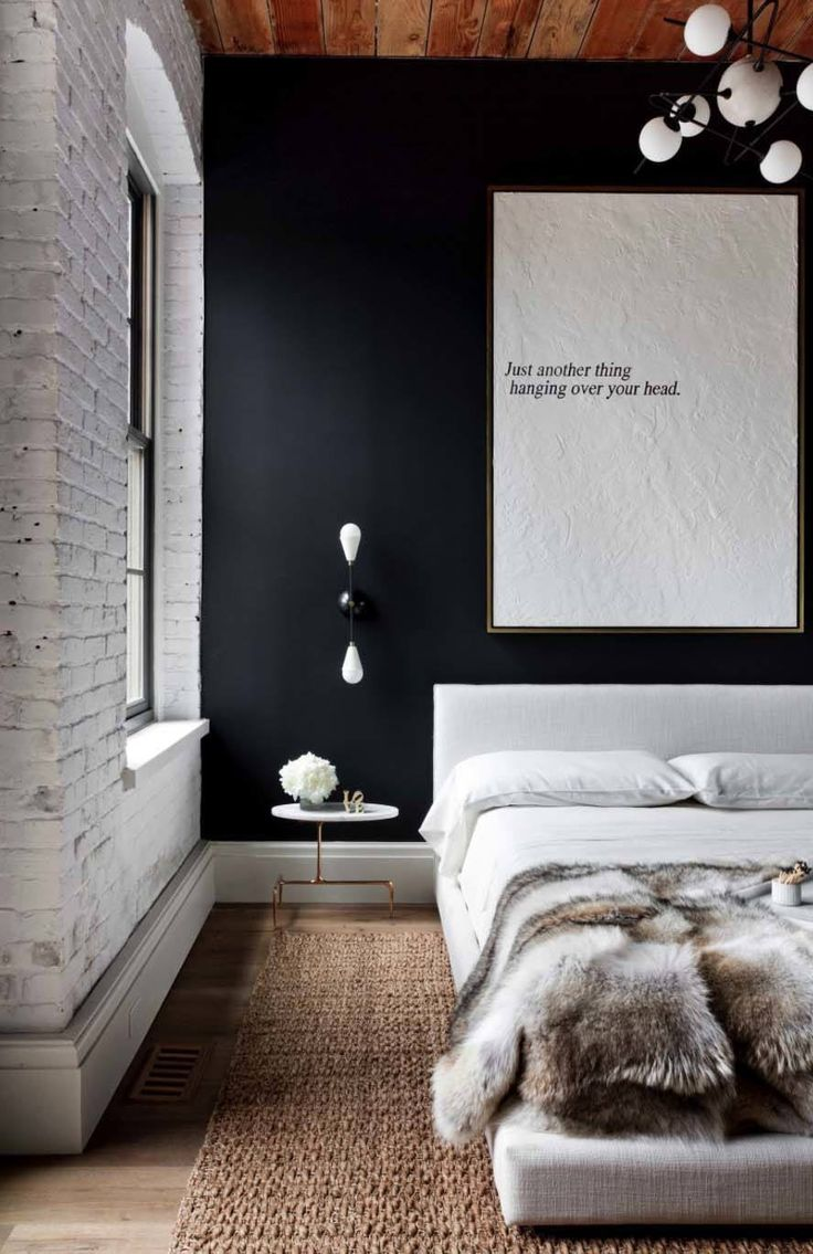 Home wall decor bedroom - 35 Edgy Industrial Style Bedrooms Creating A Statement