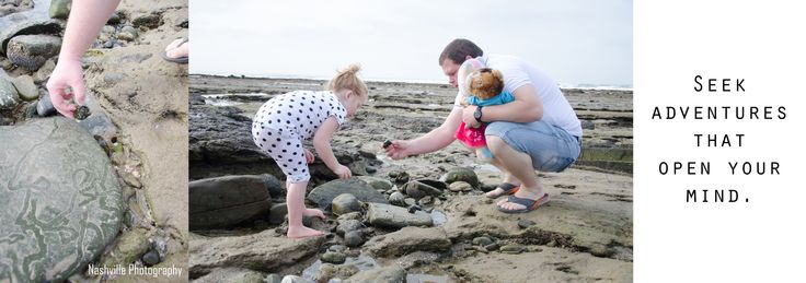 Adventure and education during this family beach shoot.