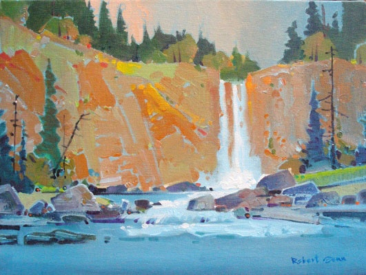 Chilcotin Fallsacrylic painting 12 x 16 by Robert Gennavailable at Mayberry Fine Art