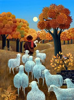 Autumn with Sheep by Jean-Pierre Lorand When the Lord is my shepherd, I shall not want!