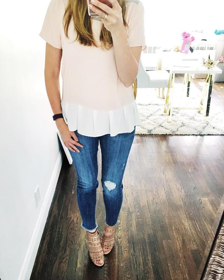 Regram. Style (& living room) goals, @Verasweeney! Your Stitch Fix top & jeans are a perfect pair.