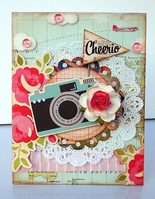 Jo Kill - handmade card, vintage camera