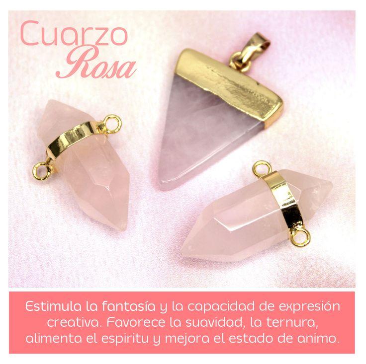 ¡Mucha creatividad! No olvides que el Cuarzo Rosa es uno de los colores top que PANTONE formuló para este 2016 ¡Sácale provecho y conoce este hermoso producto ingresando a www.variedadescarol.net! #VariedadesCarolTv #Bisutería #Insumos #Accesorios #Moda #Tendencia #Joyas #Color #Tendencias #Diseños #CarolTv #DIY #Pulseras #Collares #Dijes #2016