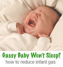 Advice for helping babies with gas get to sleep