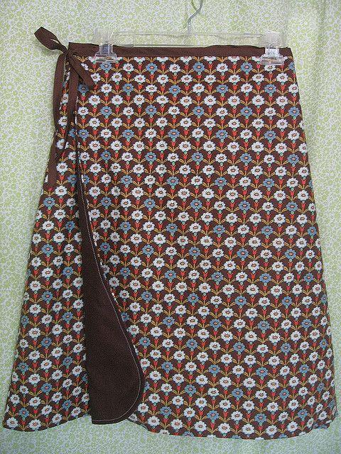 Flowered Wrap Skirt by Regina Lord (creative kismet), via Flickr