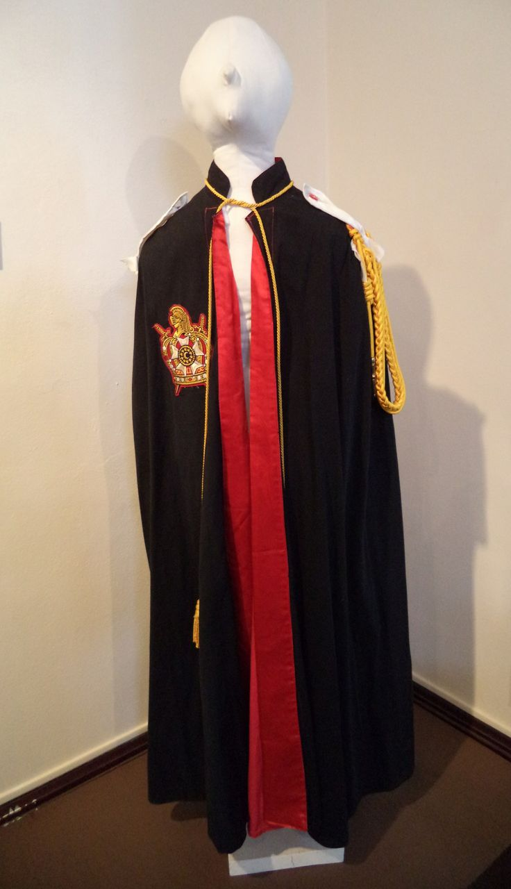 DeMolay officer's cloak. DeMolay is a youth group
