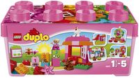 LEGO DUPLO 10571 Alles in één roze doos - Vooraanzicht