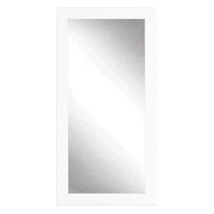 BrandtWorks Designers Choice Classic Wall Mirror - Matte White | from hayneedle.com