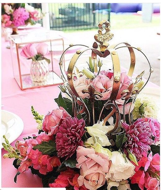 Crown floral centerpieces by crazy about flowers