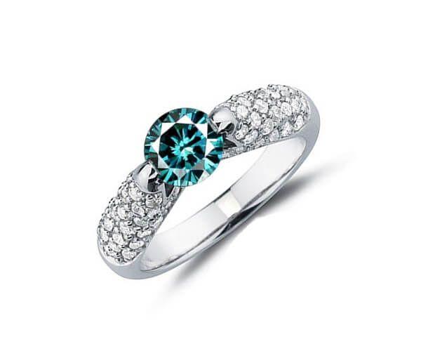 Populaire Les 25 meilleures idées de la catégorie Bagues en diamant bleu sur  HF77
