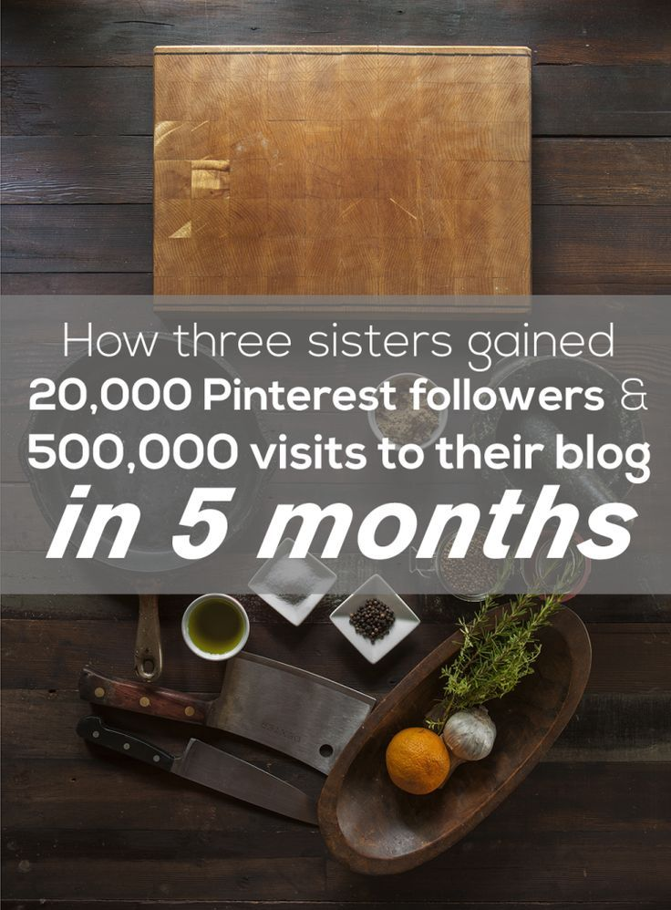 How three sisters gained 20,000 Pinterest followers & 500,000 visits to their blog in just 5 months!