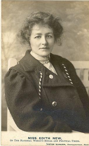 Edith New, a Swindon, UK Suffragette, 1906.