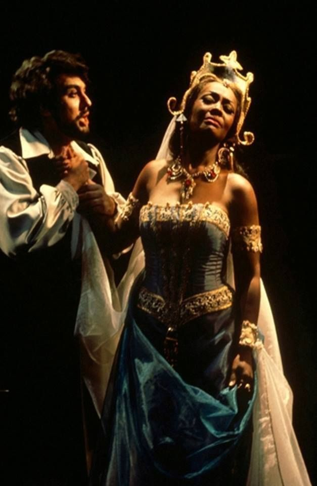 Placido Domingo's debut as Vasco de Gama in Meyerbeer's L'Africaine at the San Francisco Opera. Pictured with him is Shirley Verrett. (03/11/1972)