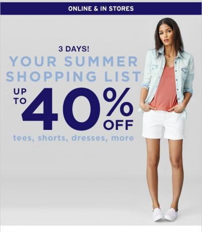 Gap Sale - Save Up To  40%
