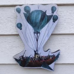 Steampunk Air Ship Novelty Sign Victorian Era