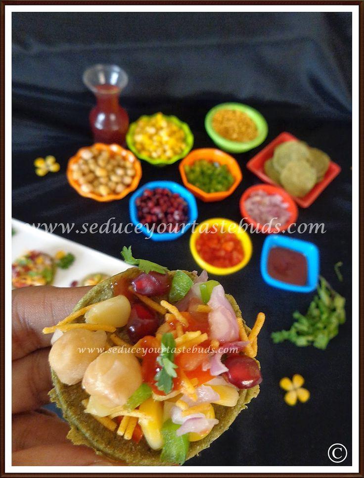 Baked Palak Puri Chaat Healthy Chaat