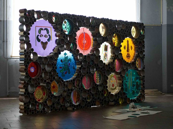 'Stained glass Sculpture' Piet Hein Eek + Marc Mulders