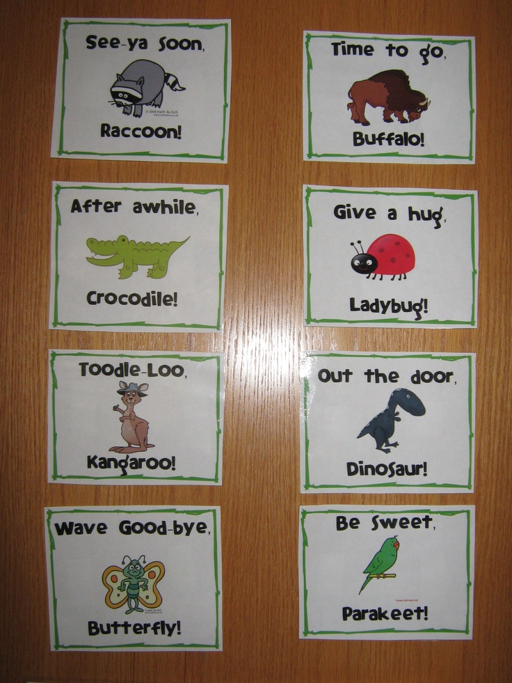 Good-bye sayings!Homeschool Idease Info, Things Piper, Pre Schools, Teachers Stuff, Classroom Posters, Sweets Parakeets, Classroom Ideas, Preschool Pin