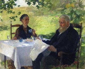 """""""le tasse des thé"""", huile sur toile de Pierre-Auguste Renoir (1841-1919, France)"""