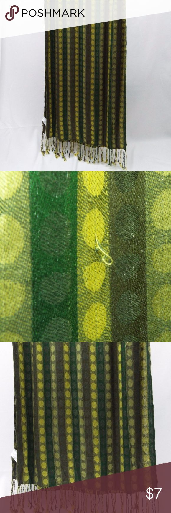 "Green Scarf  20"" x 76"" Ultra Soft Green Scarf made in India USA Seller $20 retail  20"" x 76"" Ultra Soft  #6371  small fabric pull(in pictures) from a major retailer looks Very good . Accessories Scarves & Wraps"