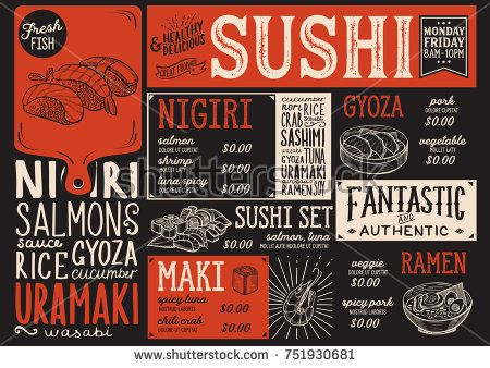 The 25+ best Sushi menu ideas on Pinterest Mr sushi menu, Sushi - menu design template