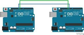 Arduino Chat  Let 2 arduinos talk to eachother using software serial and assingning pins to be used as serial ports