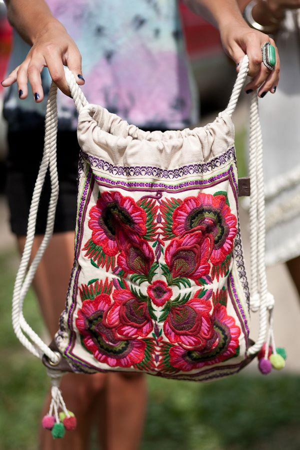 In love with embroidered backpacks