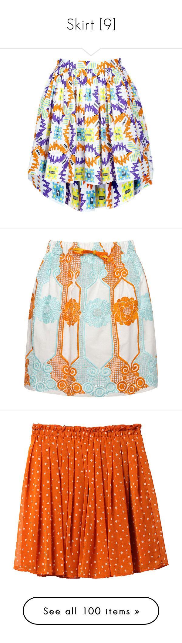 """""""Skirt [9]"""" by gdavilla ❤ liked on Polyvore featuring skirts, bottoms, faldas, hi lo skirt, hi low skirt, skater skirt, tribal skirt, frilly skirt, multi and flower print skirt"""