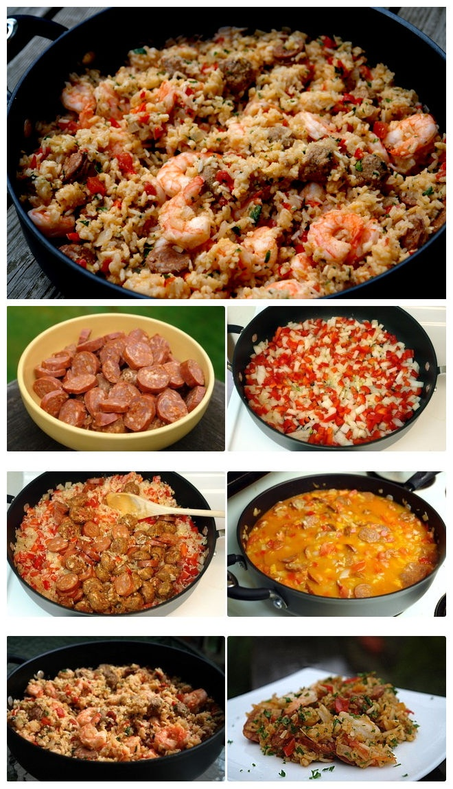 Rice With Chorizo, Shrimp, And Green Olives Recipes — Dishmaps
