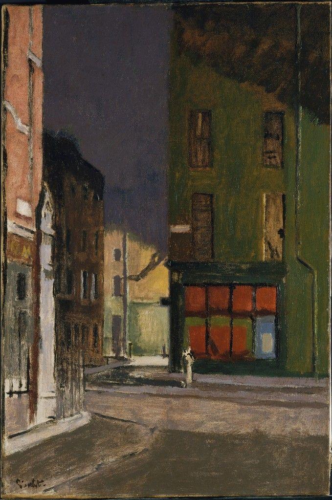 Walter Sickert:  Maple Street, London (c.1922) via The Metropolitan Museum of Art