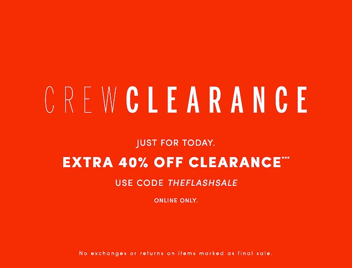 J.Crew Factory Sale - Crew Clearance
