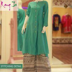 Rang Ja Casual Dresses Designs 2013 For Girls